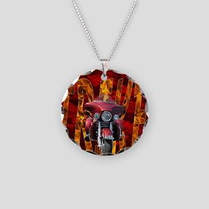 AB54 C-MOUSE Necklace Circle Charm