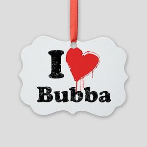 heartbubba_black Picture Ornament