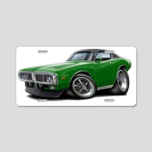 1973-74 Charger Green-Black Aluminum License Plate