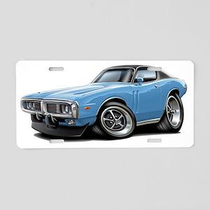 1973-74 Charger Lt Blue-Bla Aluminum License Plate