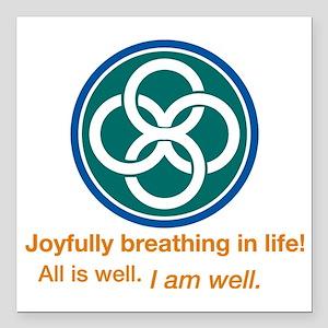 "Joyful Celtic Square Car Magnet 3"" x 3"""