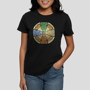 Celtic Cross Earth-Air-Fire-W Women's Dark T-Shirt