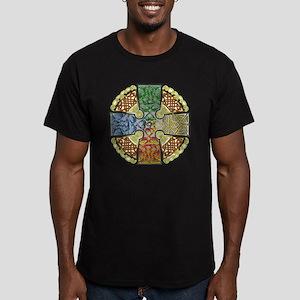 Celtic Cross Earth-Air Men's Fitted T-Shirt (dark)