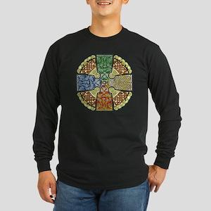 Celtic Cross Earth-Air-Fi Long Sleeve Dark T-Shirt