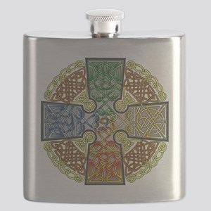 Celtic Cross Earth-Air-Fire-Water Flask