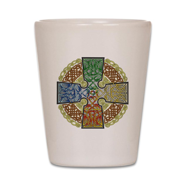 Celtic Cross Earth Air Fire Water Shot Glass By Admincp18541656