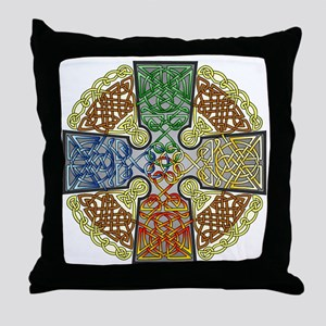 Celtic Cross Earth-Air-Fire-Water Throw Pillow