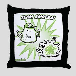 team-amoeba-greener Throw Pillow