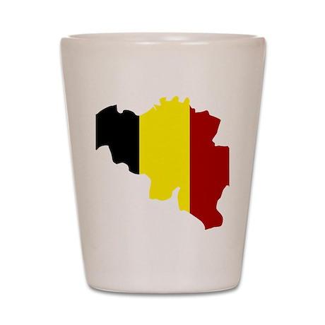 belgium_map_3c Shot Glass