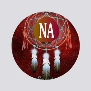 "2-NA INDIAN 3.5"" Button"