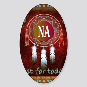 2-NA INDIAN Sticker (Oval)