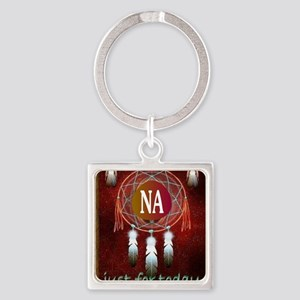 2-NA INDIAN Square Keychain