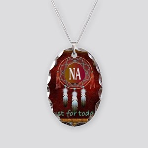 2-NA INDIAN Necklace Oval Charm