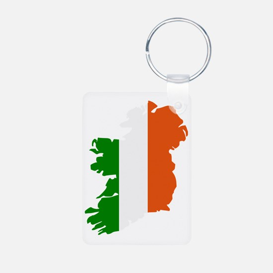 ireland_map_3c Aluminum Photo Keychain