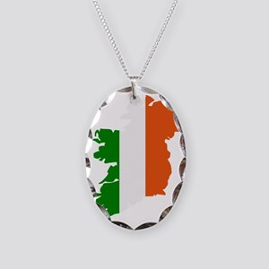 ireland_map_3c Necklace Oval Charm