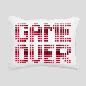 game_over_pixel Rectangular Canvas Pillow