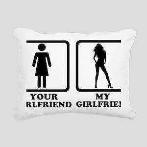 your_girlfriend_my_girlf Rectangular Canvas Pillow