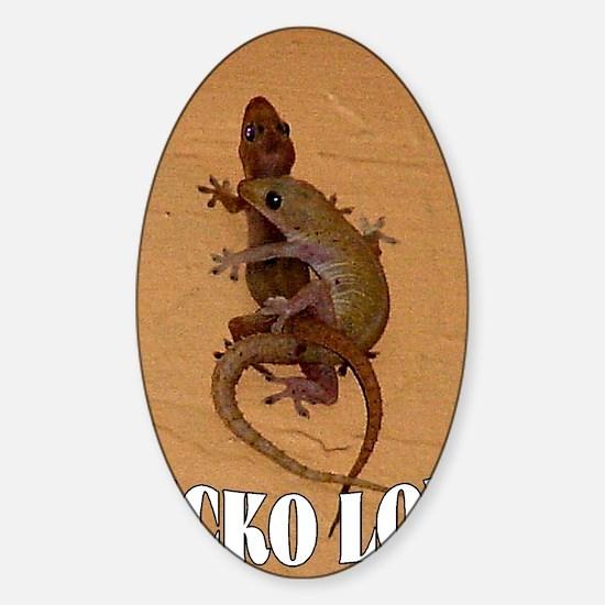 GECKO LOVE Sticker (Oval)
