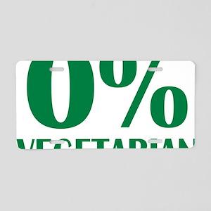 o_vegetarian Aluminum License Plate