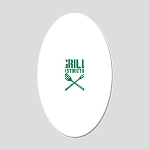 grill_instructor 20x12 Oval Wall Decal