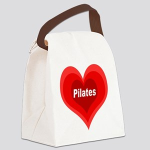 Pilates Expanding Heart Canvas Lunch Bag