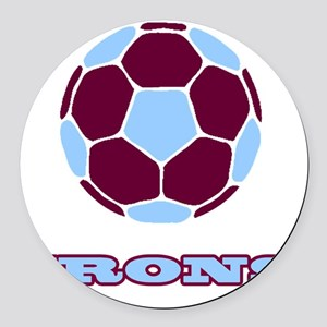 IRONS copy Round Car Magnet