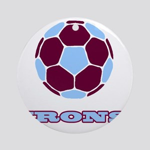 IRONS copy Round Ornament