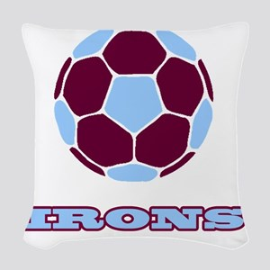 IRONS copy Woven Throw Pillow