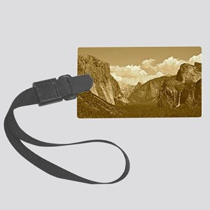 tunnel-view-sepia Large Luggage Tag