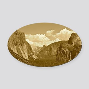 tunnel-view-sepia Oval Car Magnet