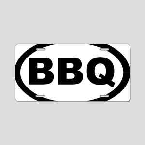 bbq_car Aluminum License Plate