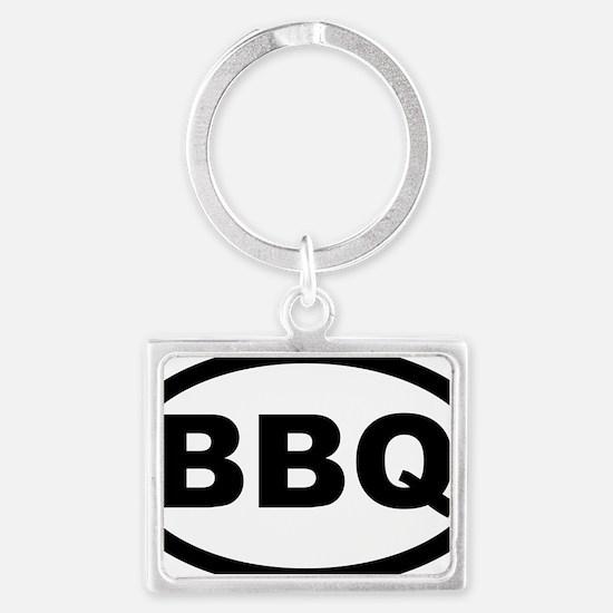 bbq_car Landscape Keychain
