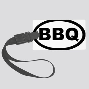bbq_car Large Luggage Tag