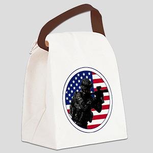 Americansoldierroundlogo Canvas Lunch Bag