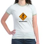 Caution Dipsomaniac Jr. Ringer T-Shirt