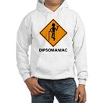 Caution Dipsomaniac Hooded Sweatshirt