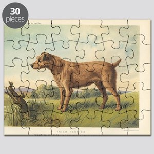 Irish Terrier antique print Puzzle