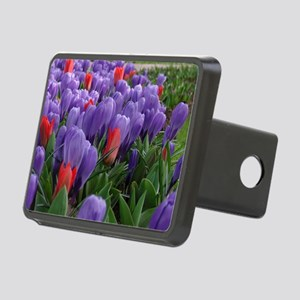 Purple  Red Tulips at Keuk Rectangular Hitch Cover