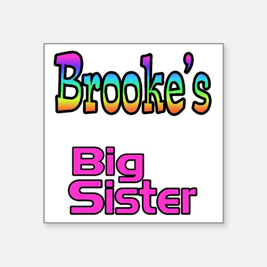 "big sister1 Square Sticker 3"" x 3"""