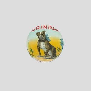 Brindle Bulldog antique label Mini Button