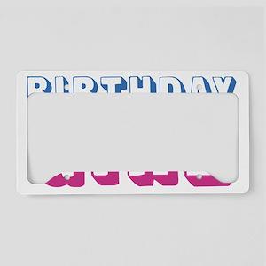 birthdaygirl-01 License Plate Holder