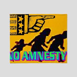 NO AMNESTY!(wall calendar) Throw Blanket
