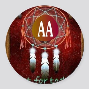 AA INDIAN Round Car Magnet