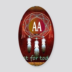 AA INDIAN Oval Car Magnet