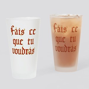 fais ce que Drinking Glass