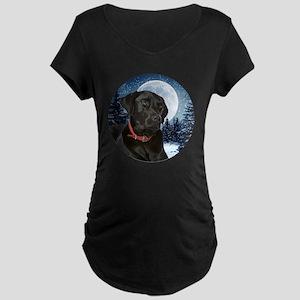 Black Lab Maternity Dark T-Shirt