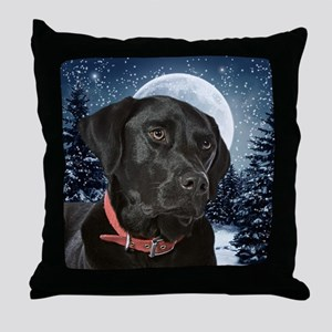 WinterLabOrn Throw Pillow