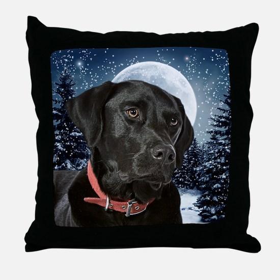 WinterLabOrn Throw Pillow