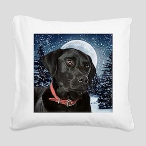 WinterLabOrn Square Canvas Pillow