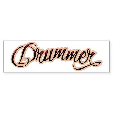 Color Drummer Tattoo Musician Bumper Sticker